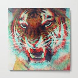3D Tiger Metal Print