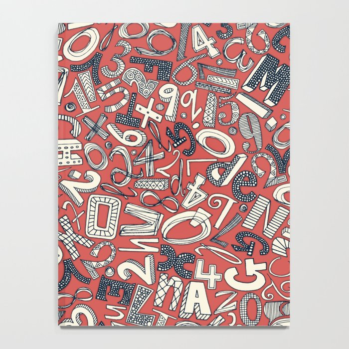 A1B2C3 coral red Notebook
