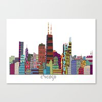 chicago bulls Canvas Prints featuring Chicago  by bri.buckley