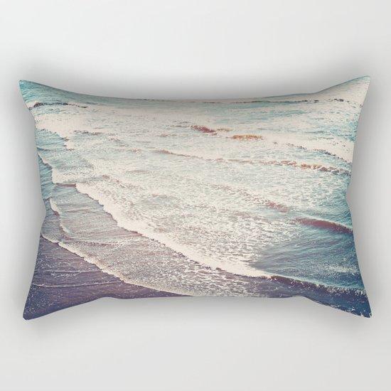 Ocean Waves Retro Rectangular Pillow
