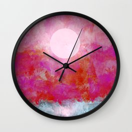 Moon Over Choppy Waters Wall Clock