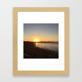Block Island Sunset Framed Art Print