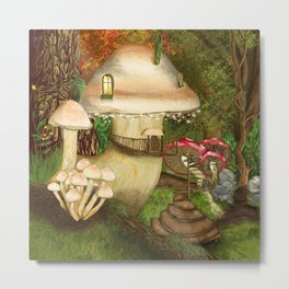Fungus Cottage -  Ella Springhollow Scene 1 Metal Print