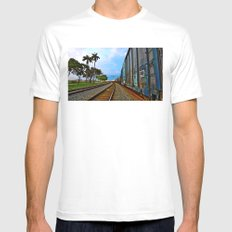 Planes, Trains, but no Automoblies White Mens Fitted Tee MEDIUM