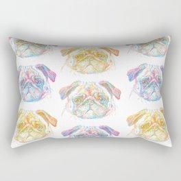 rainbow pug Rectangular Pillow