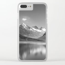 Glacial reflections Clear iPhone Case