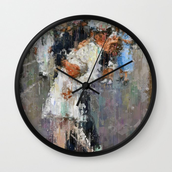 World War Kiss Wall Clock