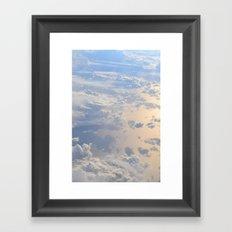 The Clouds Below Framed Art Print
