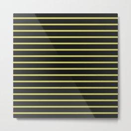 Black & Yellow Stripes Metal Print