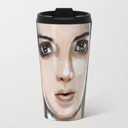 Winona Ryder Travel Mug