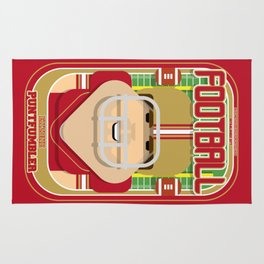American Football Red and Gold - Enzone Puntfumbler - Bob version Rug
