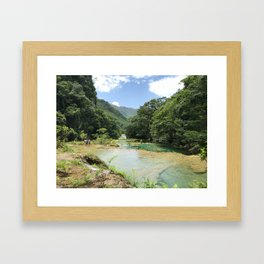 Semuc Champey Framed Art Print