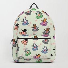 Cute Teacup Kittens Pattern Backpack