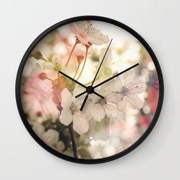 Apple Blossoms Dream Wall Clock