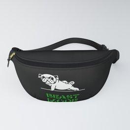 Beast Mode Pug Fanny Pack