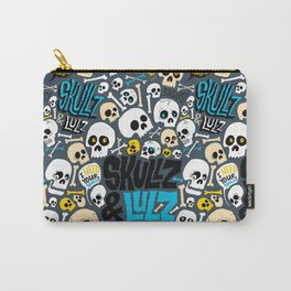 Skullz & Lulz Pattern Carry-All Pouch