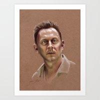 ben giles Art Prints featuring Ben by Jackie Sullivan