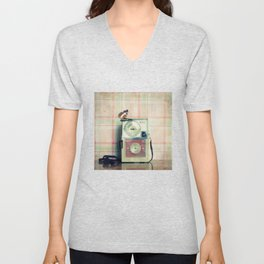 Vintage Camera Love: Pink Kodak Hawkeye Flashfun! Unisex V-Neck