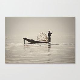 Fisherman at Inle Lake Canvas Print