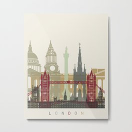 London skyline poster Metal Print