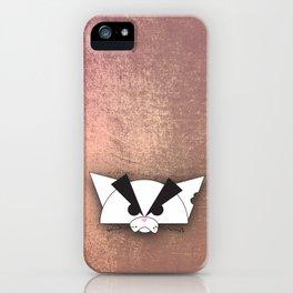 Crabby Cat - white iPhone Case