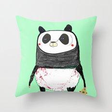 Skateboarding Panda Throw Pillow