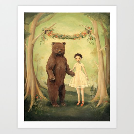 In the Spring, She Married a Bear by emilywinfieldmartinart