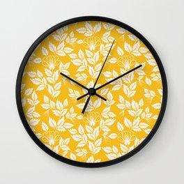 Leaves Pattern 11 Wall Clock