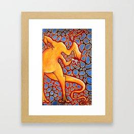 kangasaur Framed Art Print