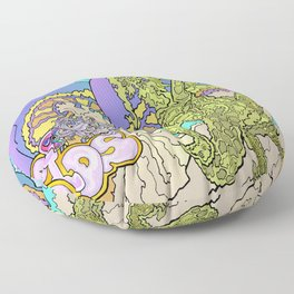 Other Worlds: The Mushroom Gathering Floor Pillow
