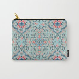 Gypsy Floral in Red & Blue Carry-All Pouch