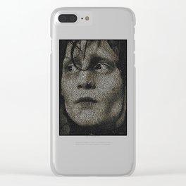 Edward Scissorhands Screenplay Print Clear iPhone Case