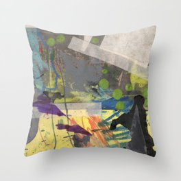 Spikes and Rubble Throw Pillow