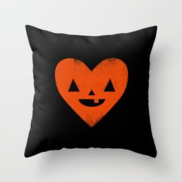 I Heart Halloween Throw Pillow