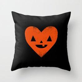 I Heart Halloween Throw Pillow