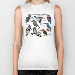 Kingfishers of the World Biker Tank