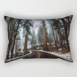 Foggy Forest Wanderlust Rectangular Pillow