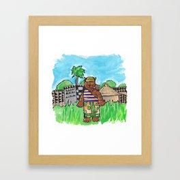 African Cat Framed Art Print