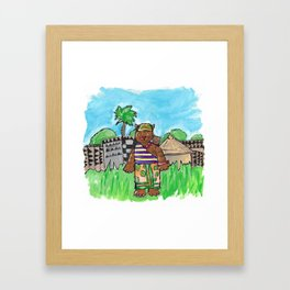 African Cat Framed Art Print
