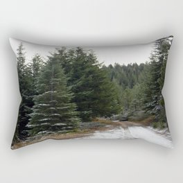 First winter snow.. Rectangular Pillow
