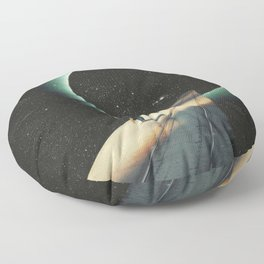 Escaping into the Void Floor Pillow