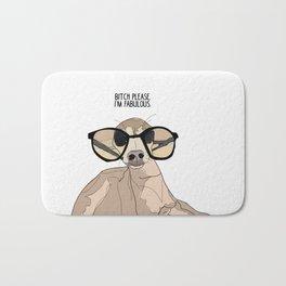 Bitch Please.  I'm Fabulous.  Greyound. Bath Mat