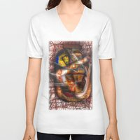 lantern V-neck T-shirts featuring Lantern by John Hansen