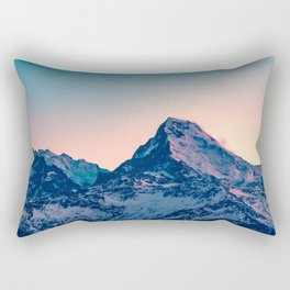 Beauty of the Snowy Himalaya Mountains in Nepal Rectangular Pillow
