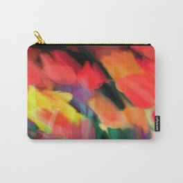 Meadow Flowers At Night Abstract Carry-All Pouch