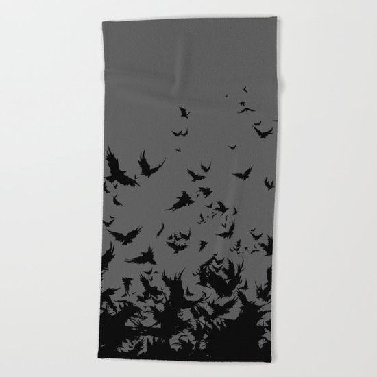 An Unkindness of Ravens (Grey) Beach Towel