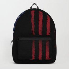 United states flag Black ink Backpack