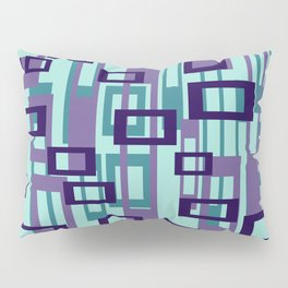 Geometric rectangles pattern violet Pillow Sham
