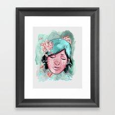 Broken Up Over Crystals Framed Art Print