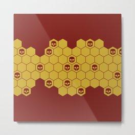 Honey Skulls - Red Metal Print